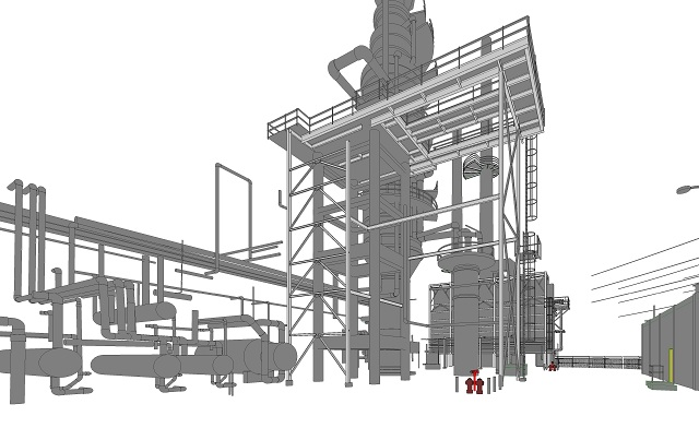 scan to bim for oil factory 2