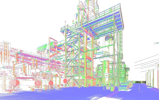 scan to bim for oil factory 1